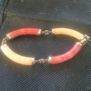 14kt Multi colored jade Bracelet